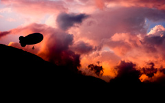 High-resolution desktop wallpaper Shadow Airship by Emmanuel Iarussi