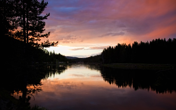 High-resolution desktop wallpaper Yellowstone Sunset by jondraperr