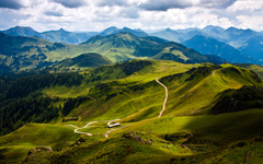 High-resolution desktop wallpaper Kitzbuhel Mountain View by reinhard76