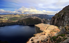 High-resolution desktop wallpaper Preikestolen (Pulpit Rock) by Dominic Kamp