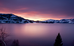 High-resolution desktop wallpaper Norwegian Sunrise by tinyfoxphotography