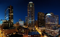 High-resolution desktop wallpaper Downtown Seattle Twilight by skyo