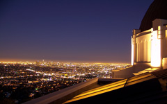 High-resolution desktop wallpaper Downtown LA from Griffith Observatory by dragonteriyaki