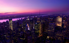 High-resolution desktop wallpaper Twilight in The Big Apple by ahmed.hassan
