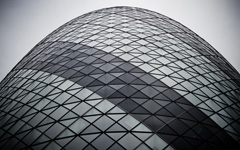 High-resolution desktop wallpaper The Gherkin from Below by ahmed.hassan
