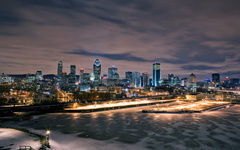 High-resolution desktop wallpaper Montreal at Night by Boily