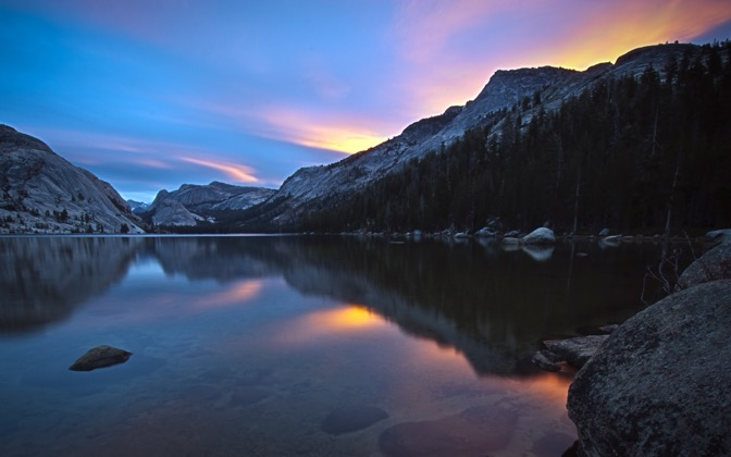 High-resolution desktop wallpaper Dawn at Tenaya Lake by sayorbasu