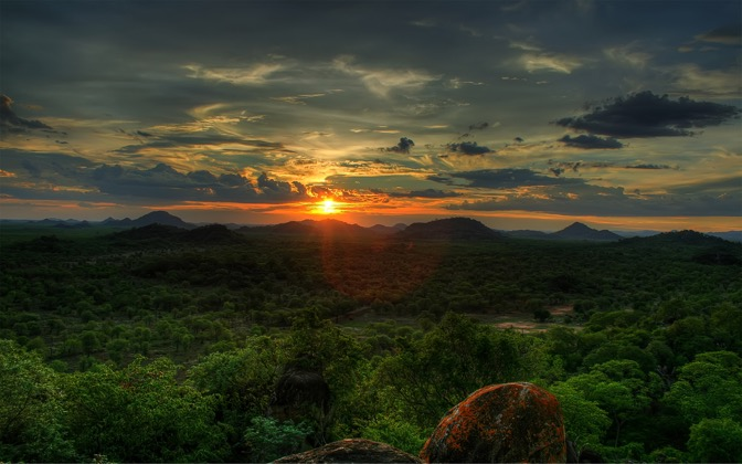 High-resolution desktop wallpaper African Sunset by Nime