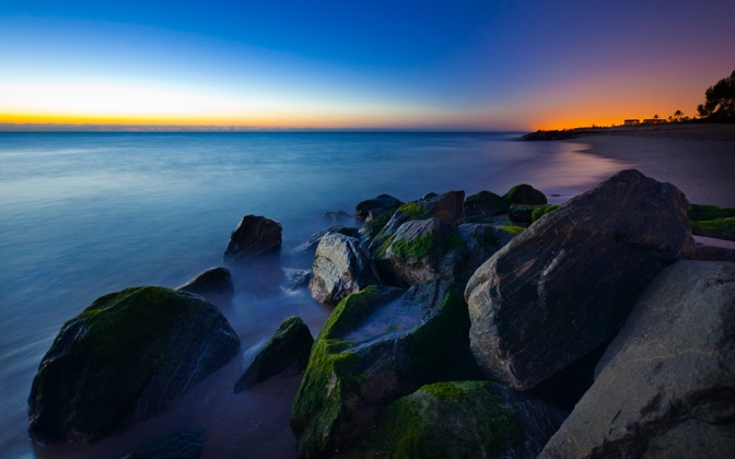 High-resolution desktop wallpaper Ocean on the Rocks by paul.charles.k