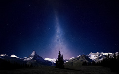High-resolution desktop wallpaper Alpine Night Sky by Dominic Kamp