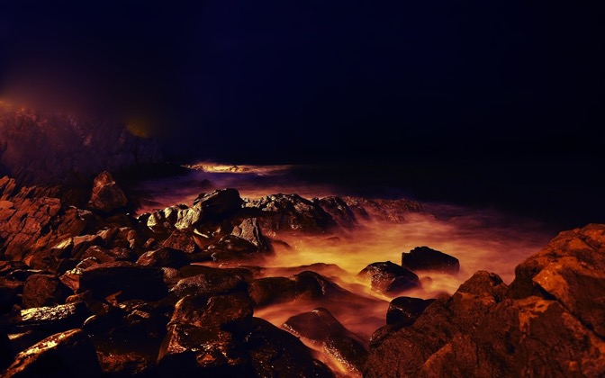 High-resolution desktop wallpaper Glowing Stones by henrik tibbing