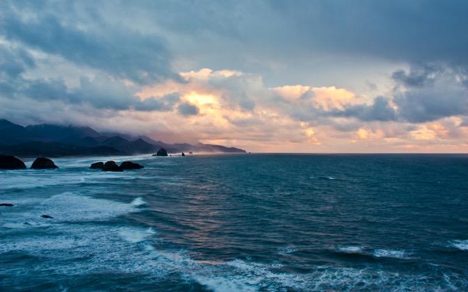 High-resolution desktop wallpaper Oregon Coast Sunset by JordanHackworth