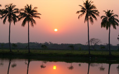 High-resolution desktop wallpaper Village Sunset by amibutia