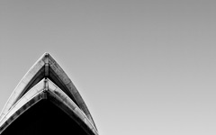 High-resolution desktop wallpaper Sydney Opera House Black and White by socks