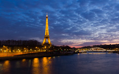 High-resolution desktop wallpaper Eiffel Tower Sunset by Jeffery Hayes