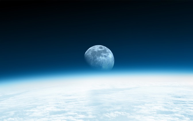 High-resolution desktop wallpaper Moon Rise by Phil2001