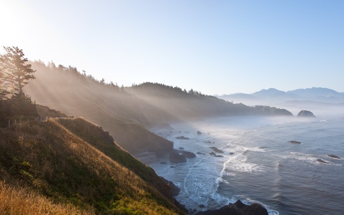 High-resolution desktop wallpaper Ecola State Park at Sunrise by claytontullos