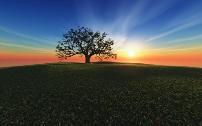 High-resolution desktop wallpaper Sunset Hill by Richard Mohler