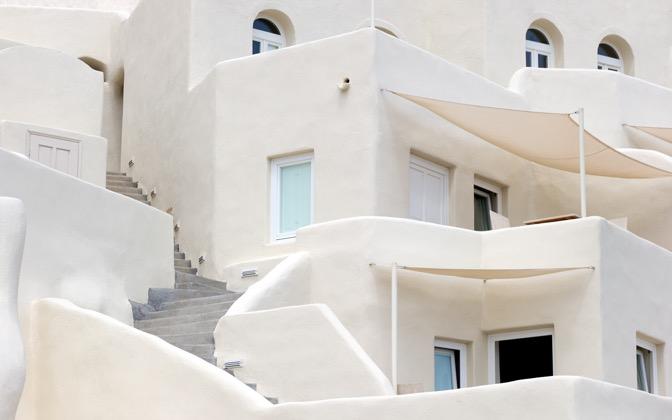 High-resolution desktop wallpaper Santorini Architecture by chickenwire