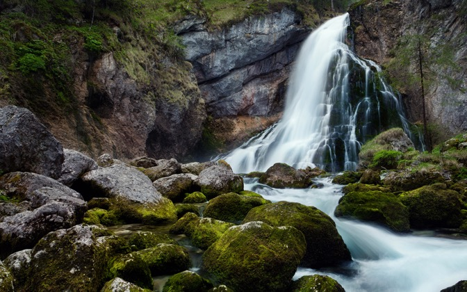 High-resolution desktop wallpaper Gollinger Waterfall by TheWanderingSoul