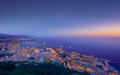 High-resolution desktop wallpaper Formula 1 Night Monaco by Crevisio