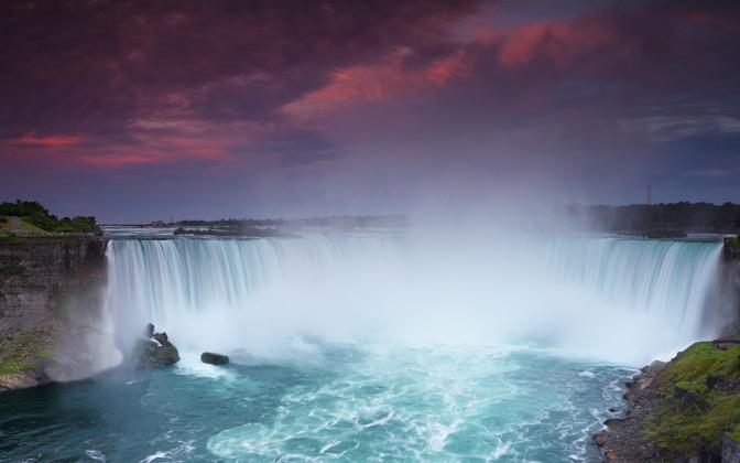 High-resolution desktop wallpaper The Falls at Sunset by dannyandaluzphotography