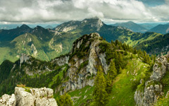 High-resolution desktop wallpaper View from Breitenstein by EMK