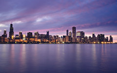High-resolution desktop wallpaper Sunset in the Windy City by Bharath Wootla