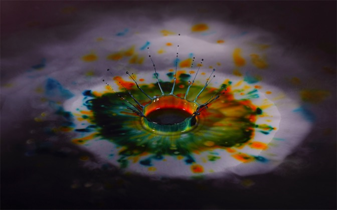 High-resolution desktop wallpaper Multi-Colored Milk Splash by Richard Mohler