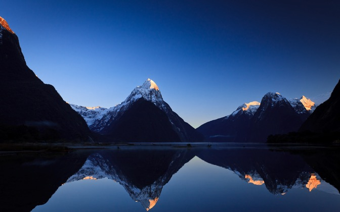 High-resolution desktop wallpaper Milford Sound Sunrise by jonpacker