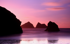 High-resolution desktop wallpaper Holywell Bay by JulianHJ