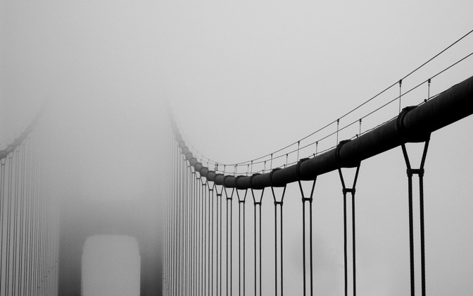 High-resolution desktop wallpaper Vanishing Bridge by Matt Hanson