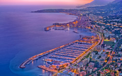 High-resolution desktop wallpaper Menton Sunset by Crevisio