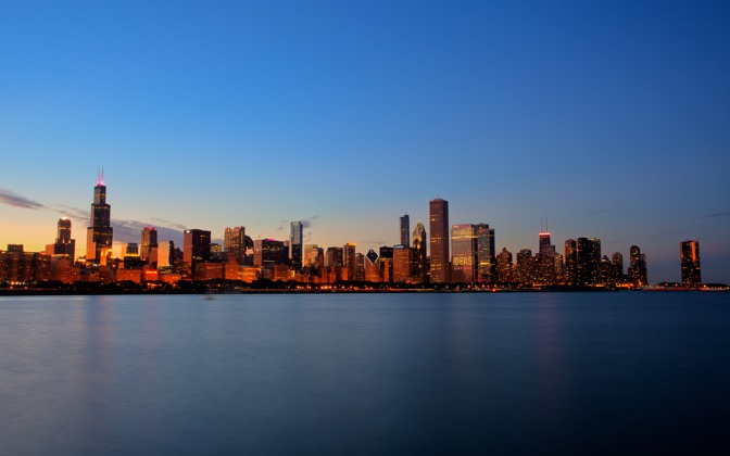High-resolution desktop wallpaper Chicago Skyline by delta772er