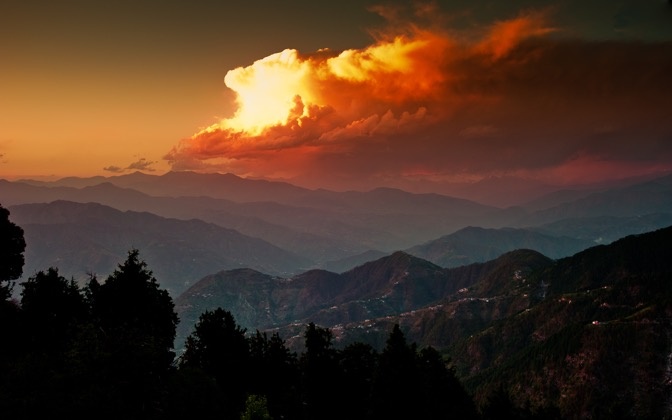 High-resolution desktop wallpaper Dalhousie Sunset by Anshul