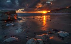 High-resolution desktop wallpaper Sunset Flames by hateom