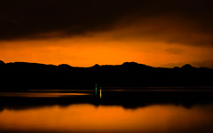 High-resolution desktop wallpaper Orange Silhouette by cadman