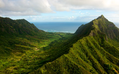 High-resolution desktop wallpaper Oahu Valley by miked3