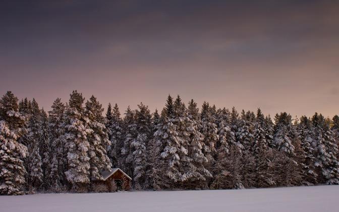 High-resolution desktop wallpaper Landscape Covered in Snow by Datamakarna