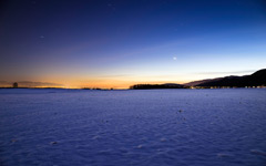 High-resolution desktop wallpaper Freezing Night in Switzerland by D0BR0