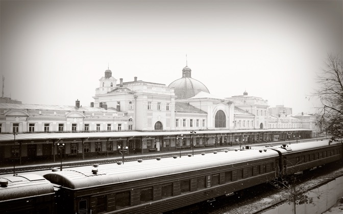 High-resolution desktop wallpaper Train Station by A.B.
