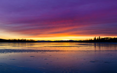 High-resolution desktop wallpaper Green Lake Sunset by lucasjungmann