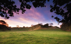 High-resolution desktop wallpaper Cornwall Park Dusk by Chris Gin