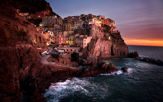 High-resolution desktop wallpaper Manarola, Cinque Terre by lmborlenghi