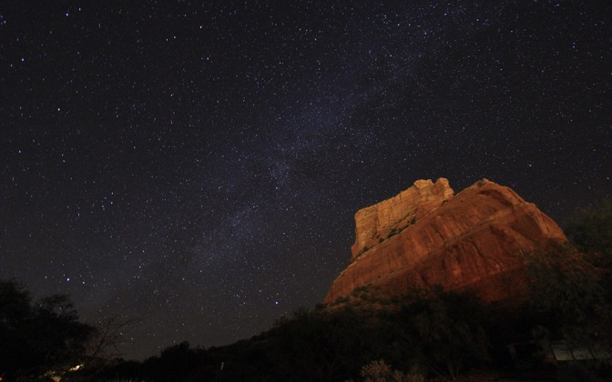 High-resolution desktop wallpaper Sedona Milky Way by cjschelz