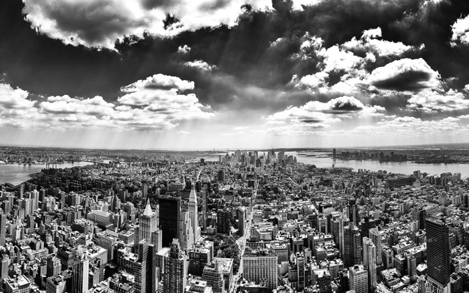 High-resolution desktop wallpaper New York City Black and White by Obelix