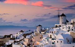 High-resolution desktop wallpaper Oia Sunset by ruidiw