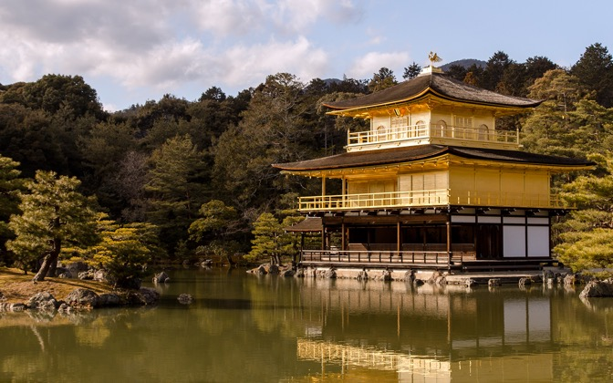 High-resolution desktop wallpaper The Golden Pavilion by red_trela