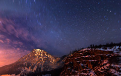 High-resolution desktop wallpaper Milky Way Circular Star Trails by Jonathan Besler
