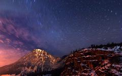 High-resolution desktop wallpaper Milky Way Circular Star Trails by Jonathan Besler